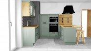 Vidiecka kuchyňa vo farbe rákosia