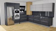 Moderní kuchyň s imitací černého betonu