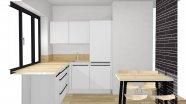 Útulná matná kuchyňa s imitáciou dubu