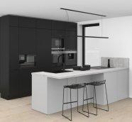 Čierna lakovaná kuchyňa