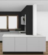 Čierna matná kuchyňa