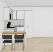 Malá kuchyň do L