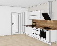 Bílá matná kuchyň