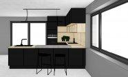 Černá matná kuchyň