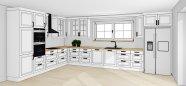 Bílá rustikální kuchyň