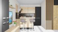 Grafitově černá kuchyň