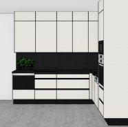 Bílá matná kuchyň do L