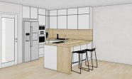 Matná kuchyň v aplské bílé