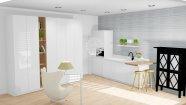 Bílá lakovaná kuchyň