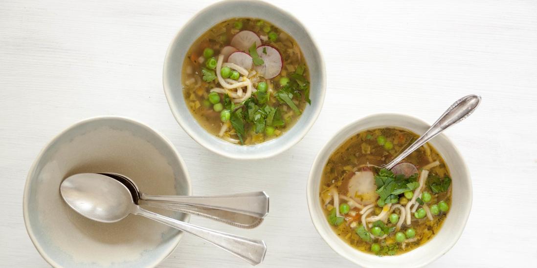 Jarní slepičí polévka