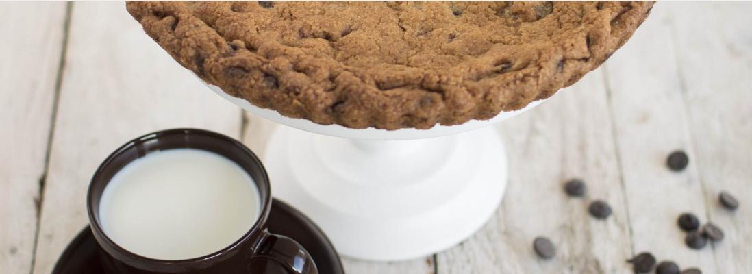 Koláč à la cookie s čokoládovými kousky