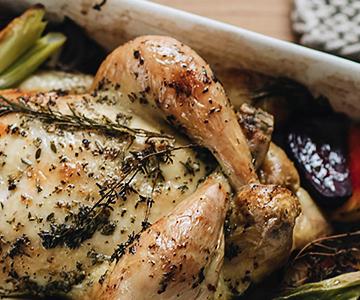 Pečené kuře se zeleninou