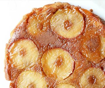 Obrácený koláč s jablky podle Slepičárny